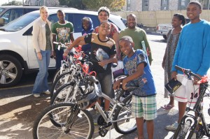 Kids from Congo charity bike build