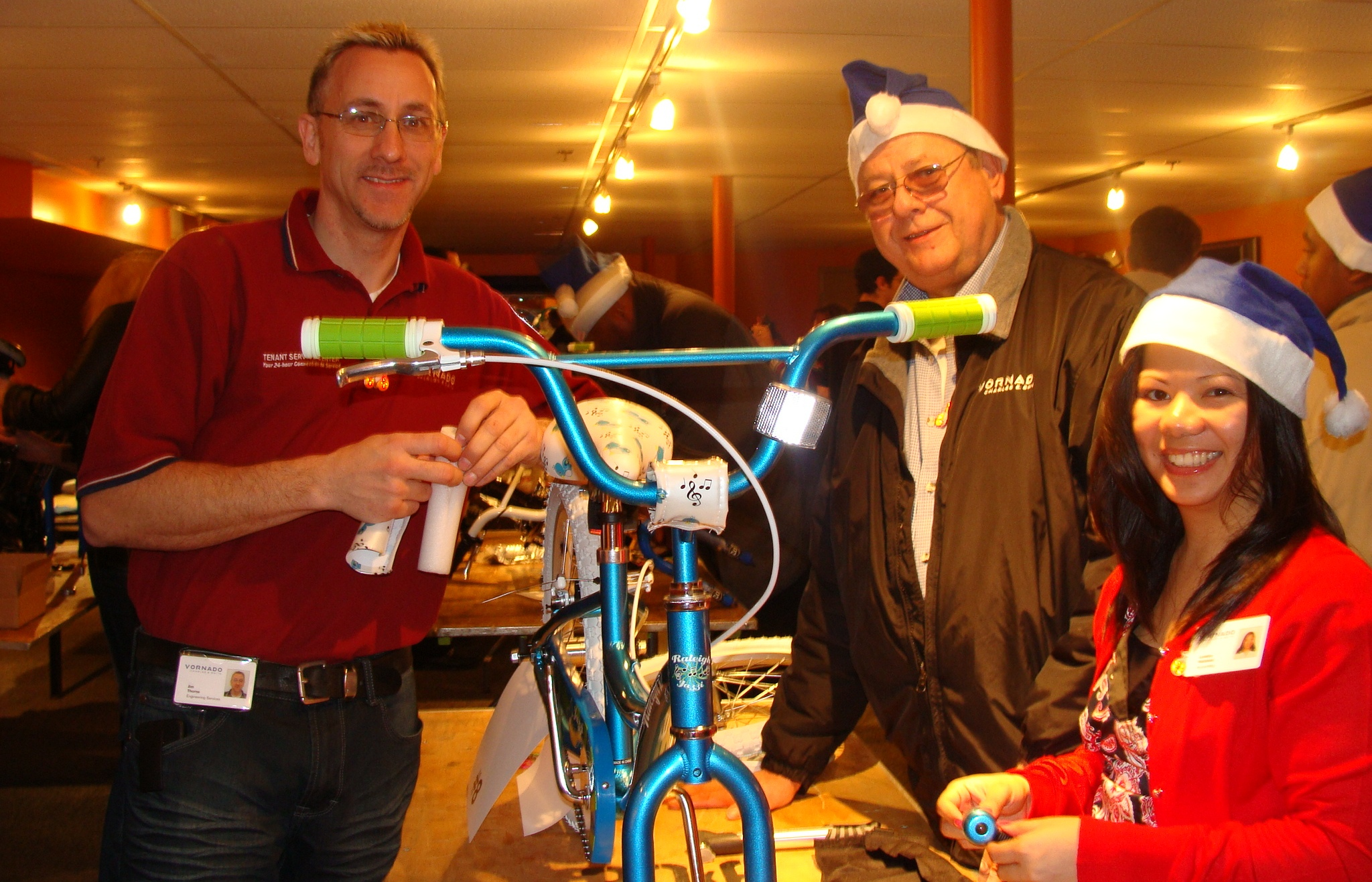 vornado corporate charity bike build team building