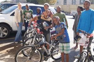 Kids from Congo charity bike build