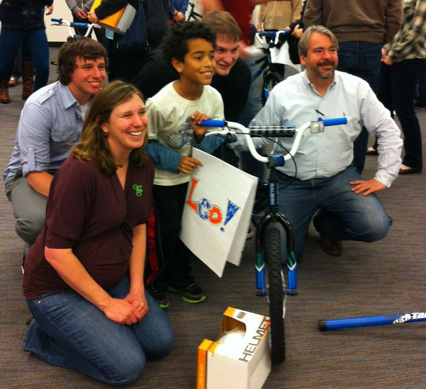 corporate charity bike build team building