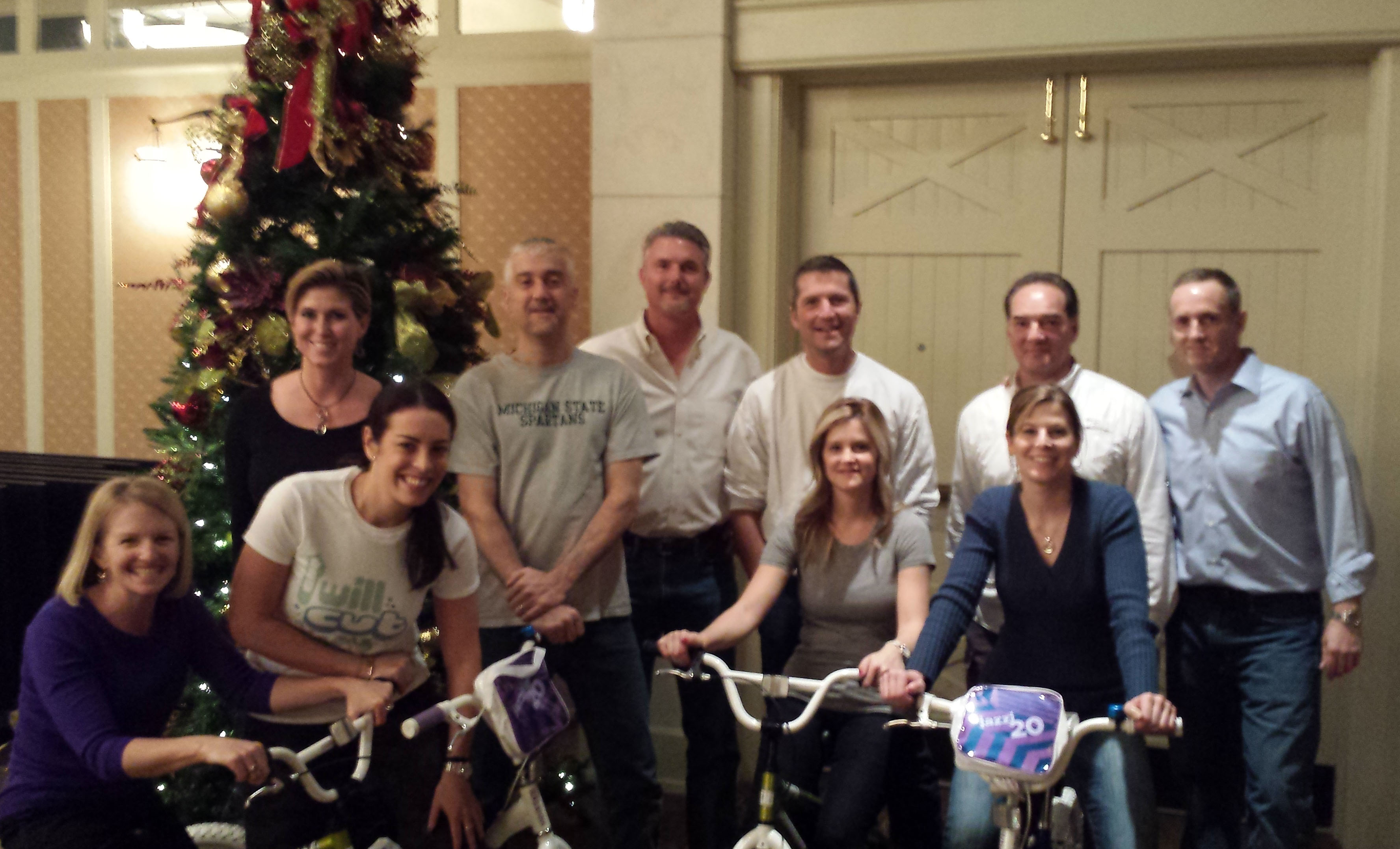 Team building bike corporate charity bike build team building