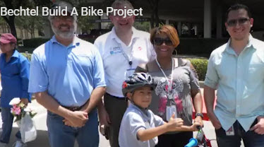 Bechtel Chevron bike build event corporate charity bike build team building